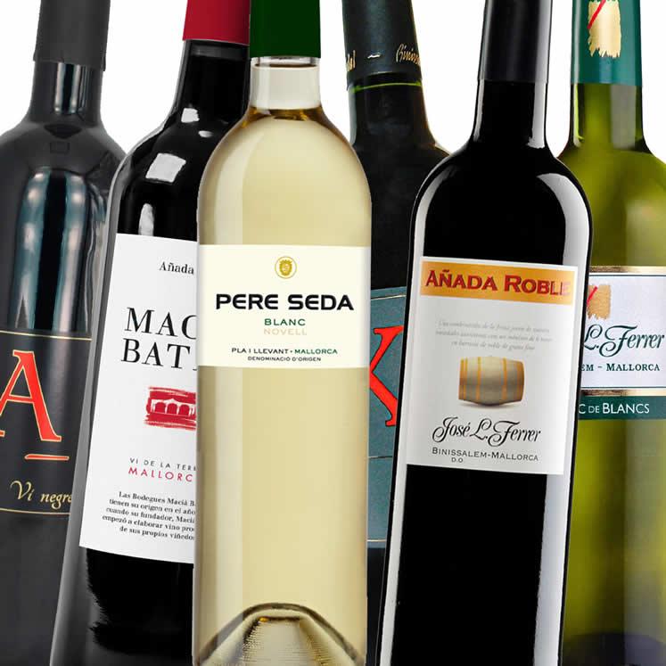 6 x Rotwein und Weißwein aus Mallorca