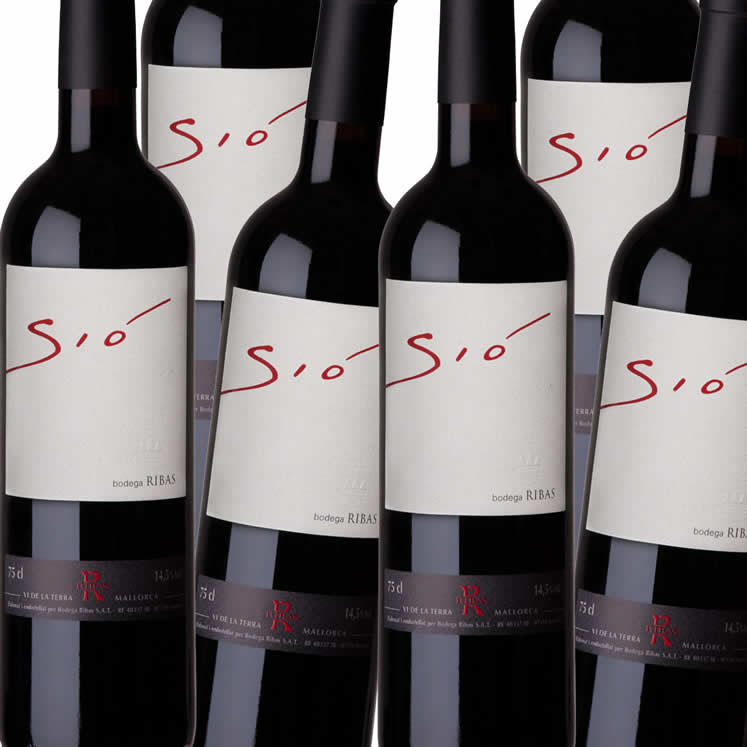 Box of 12 - Sió,red wine,  Vi de la Terra Mallorca, Bodegas Can Ribas