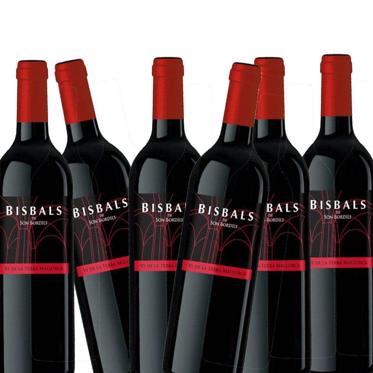 6 x Son Bordils Bisbals Vi de la Terra Mallorca Rotwein