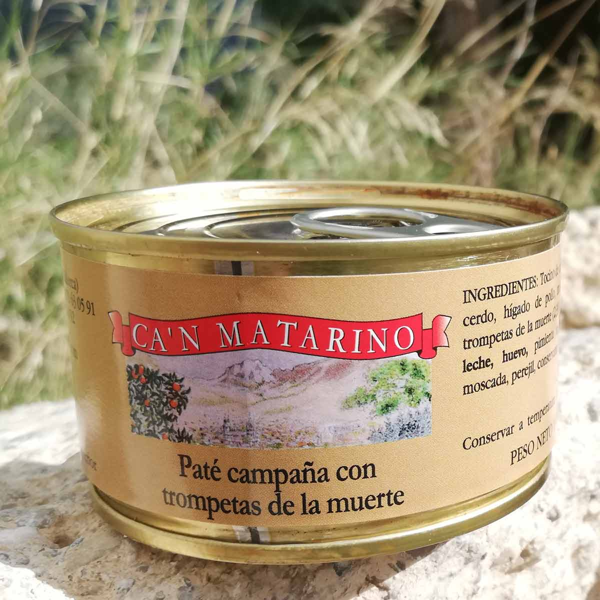 Ca\\'n Matarino Paté campaña, liver paté in the traditional way