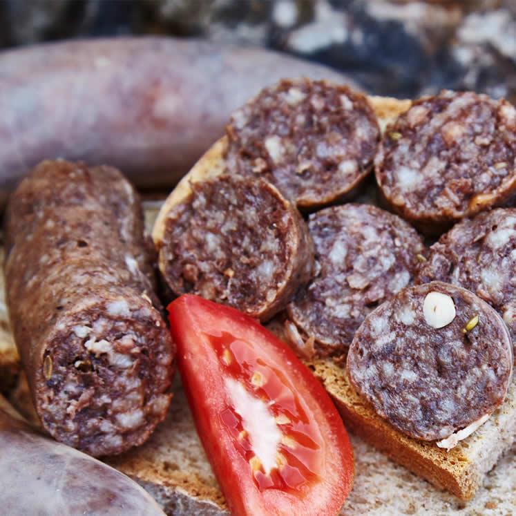 Botifarrones dulces mediterrane Blutwurst
