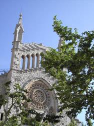 Impressive facade of the church of Sóller