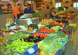 Daily fresh fruit and vegetables in the covered market