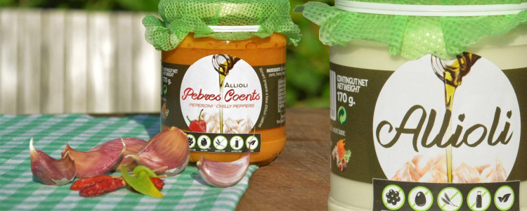 Allioli Pebres Coents, Knoblauchcreme mit Chili